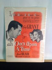 1944 Vintage Once Upon A Time Movie W/ Cary Grant & Janet Blair Life Magazine Ad
