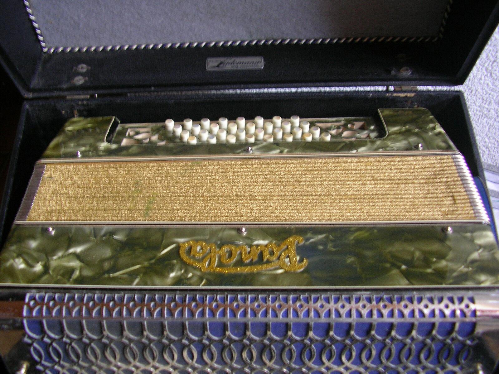 Sehr altes Lüdemann Akordeon  Panola um 1940 mit gutem Klang nur 31 cm hoch