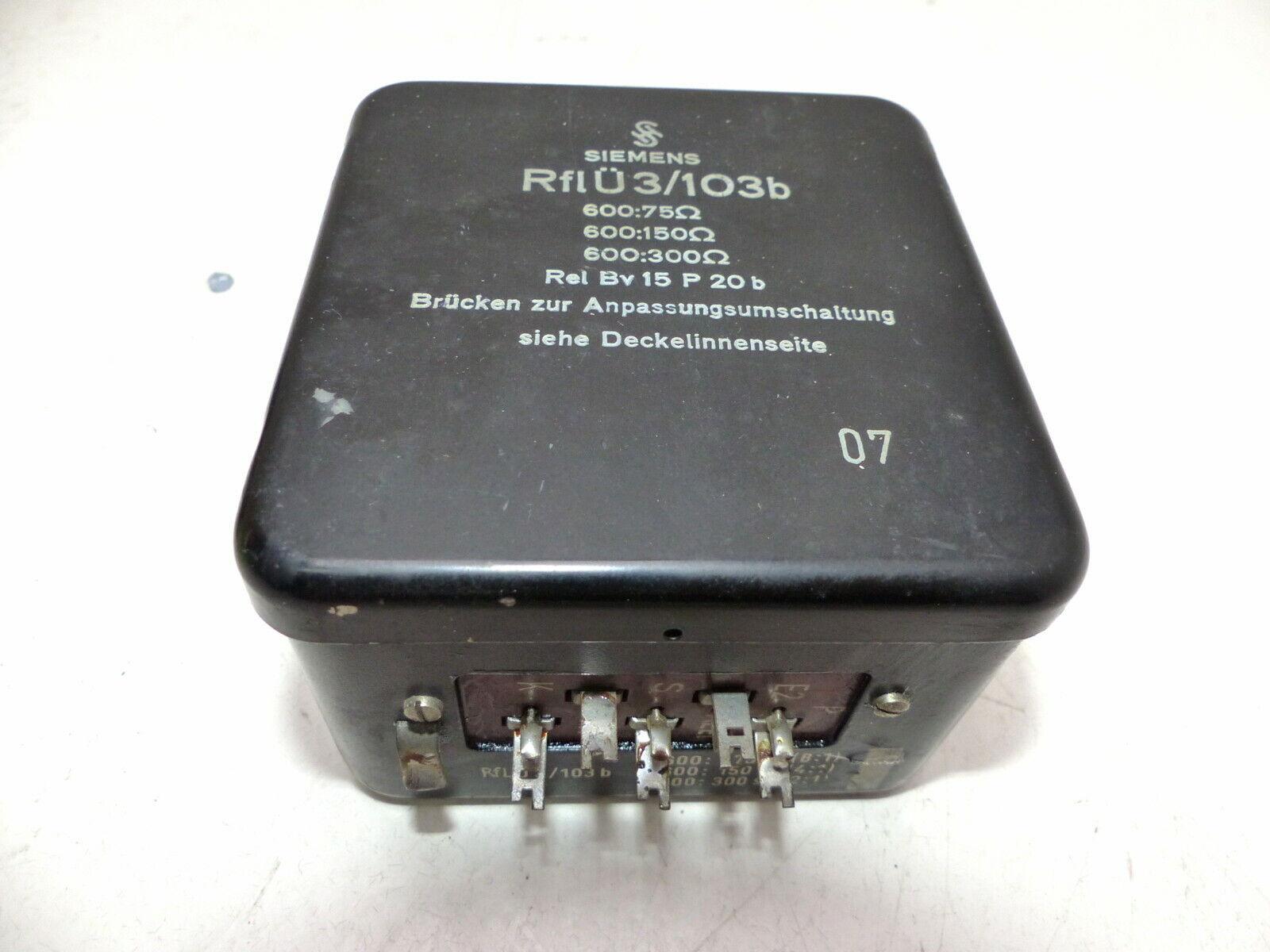 Siemens RFLÜ3 103b 600 75,600 150,600 300 Ohm Mikrofon ÜbertragerI905