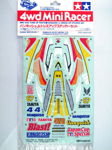 Tamiya 15050 Mini4WD Vanquish Jr. Dress-Up Sticker Set modellismo