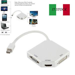 Cavo-adattatore-HDMI-3-in1-per-porta-monitor-MacBook-DP-da-Thunderbolt-a-DVI-VGA