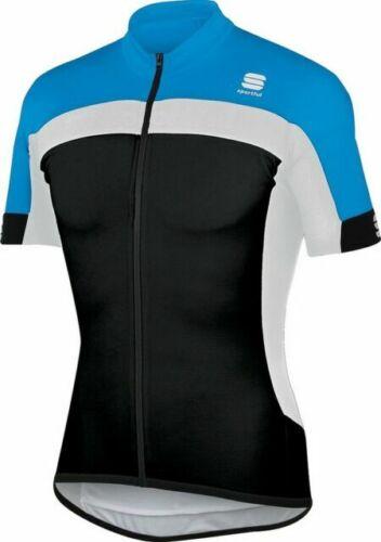 Sportful Pista Longzip Short Sleeve Jersey Brand New Blue Black white small Men
