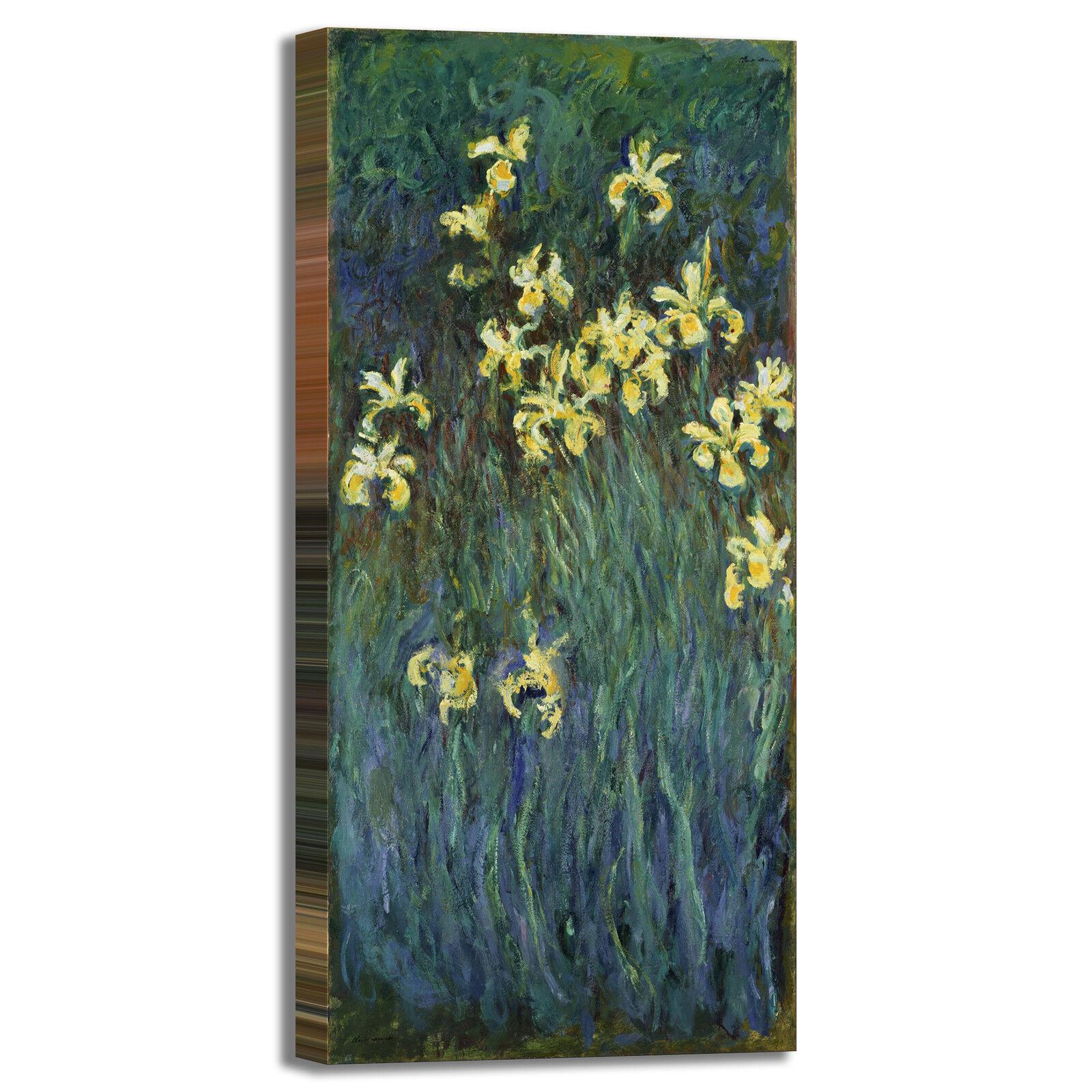 Monet iris Gelb design quadro stampa tela dipinto telaio arroto casa
