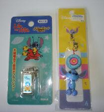 Disney Japan Lilo & Stitch Cell Phone Strap Lot of 2 Alien Solar Light Beads