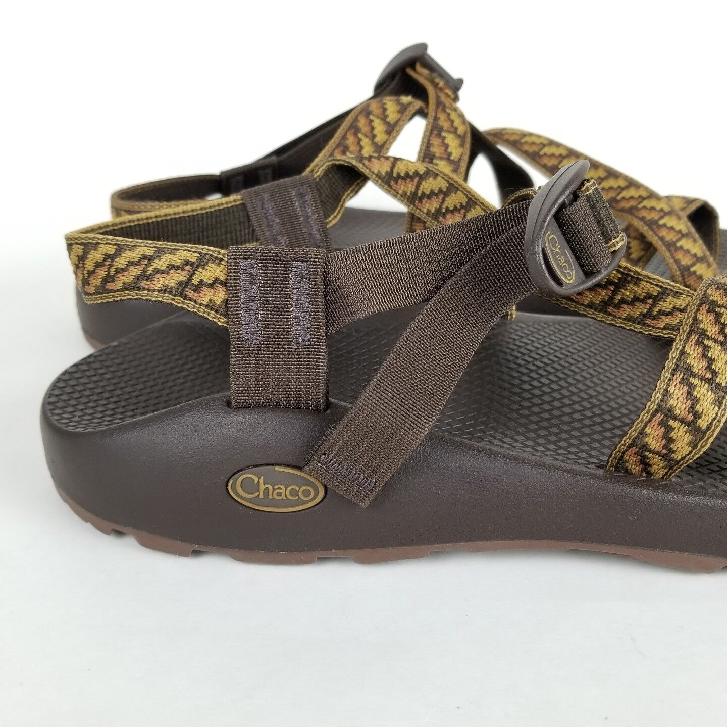 Chaco Z2 Outdoor Classic Men's Brown Pattern Outdoor Z2 Sports Sandals Size 14 459357
