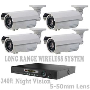 LONG-DISTANCE-2-500FT-WIRELESS-TRANSMISSION-WEATHERPROOF-1200TVL-CCTV-DVR