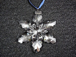 Swarovski Crystal 2008 Christmas Ornament Snowflake #9400 ...