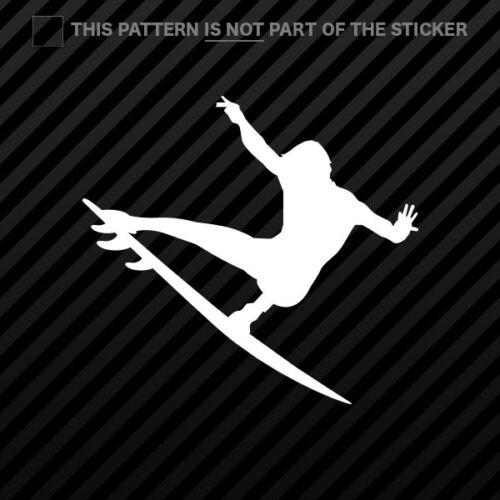 2x Surfer Sticker Self Adhesive Vinyl surf surfing