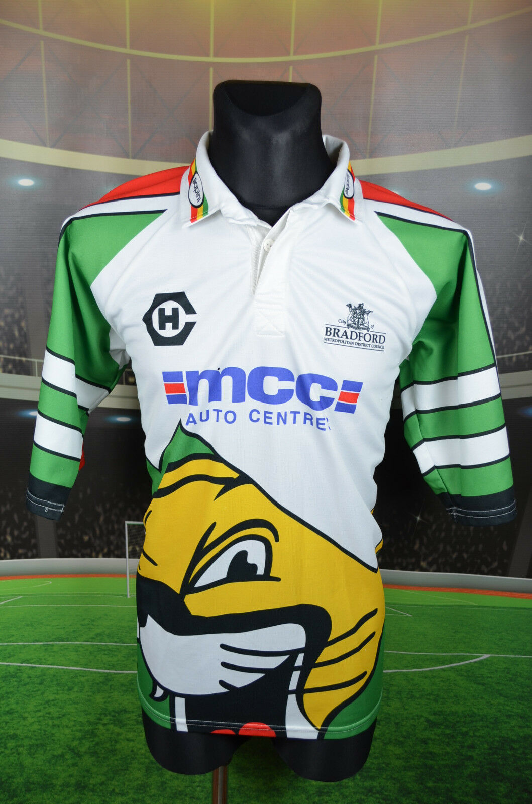 BRADFORD COUNCIL PAPINI RUGBY LEAGUE SHIRT (L) JERSEY TOP TRIKOT CITY OF COUGARS