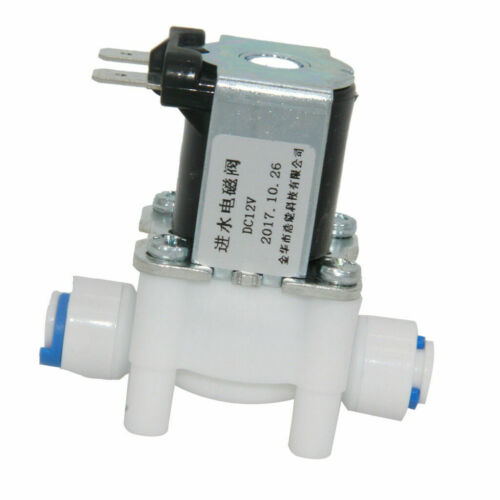 1//4 Plastic Electric Solenoid Valve Magnetic Water Dispenser Flow Open /& Off  S