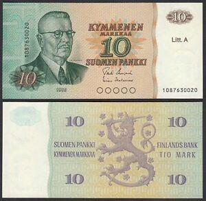 Finnland - Finland 10 Markka 1980 Pick 112 Unc (1) (24815 Schrumpffrei