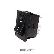 Interrupteur à bascule 250V 6A, ON OFF, Noir, 2 Positions, 3 Broches. Arduino