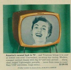 Western Auto Truetone TV Radio Vintage Magazine Print Ad 1950's
