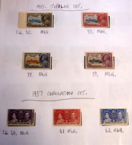 LOT-OF-7-OLD-GILBERT-amp-ELLICE-IS-STAMPS-KGV-SG-36-42-JUBILEE-amp-CORONATION