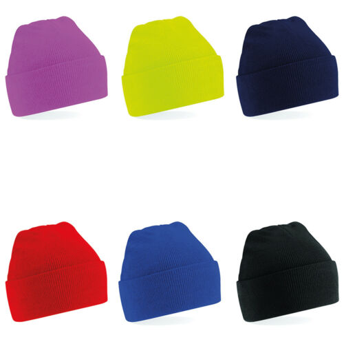 New BEECHFIELD Childrens Kids Winter Knitted Beanie Hat in 7 Colours One Size