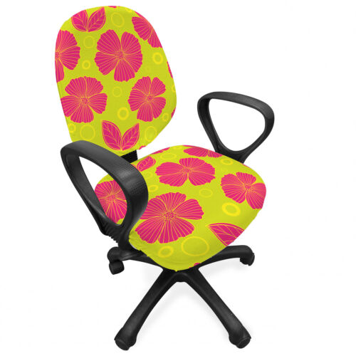 Ambesonne Floral Drawings Office Chair Slipcover Protective Stretch Cover