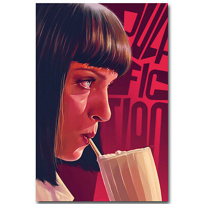 Pulp Fiction Classic Movie Silk Fabric Poster Canvas Art Print 12x18 24x36 inch