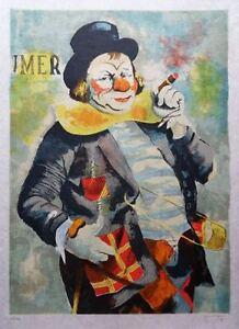 Viktor Viko : The Clown - Litografía Firmada Y Numerada 150ex # Papel Japón
