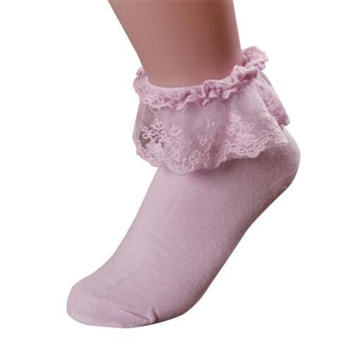 Damen Frauen Knöchel Spitze Socken Rüsche nette süße Baumwollweiche Socken Mode