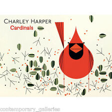 New Charley Harper Cardinals Images 20 Blank Notecards & Envelopes in a Gift Box