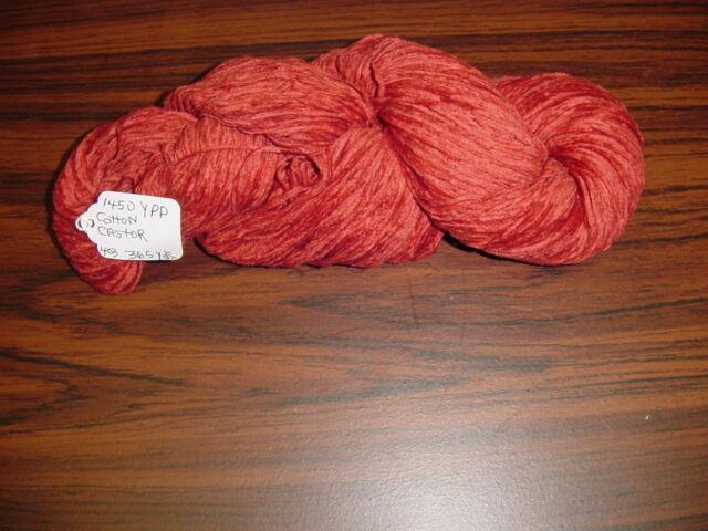 Cotton Chenille Yarn 1450 YPP 1 Skein 4 oz.Color Castor