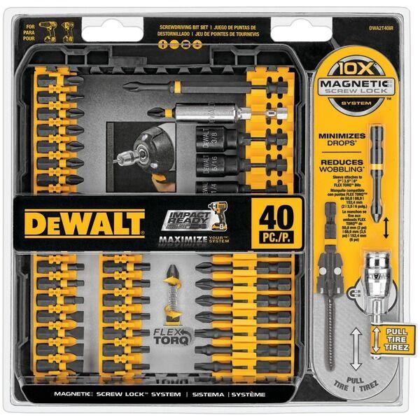 DeWalt 40PCS Impact Ready Bit Set With Case DWA2T40IR