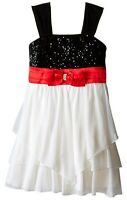 Beautiful Sequin Hearts Girls Size 10 Sequin Bodice Tiered Skirt Dress Msrp $58