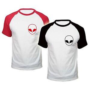 ALIEN-BASEBALL-T-shirt-POCKET-ufo-HIPSTER-SWAG-love-BLOGGER-TUMBLR-FASHION-hate
