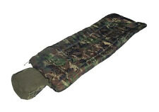 Woodland Camo PILOT SLEEPING BAG with PILLOW - Military Army Camping Camouflage