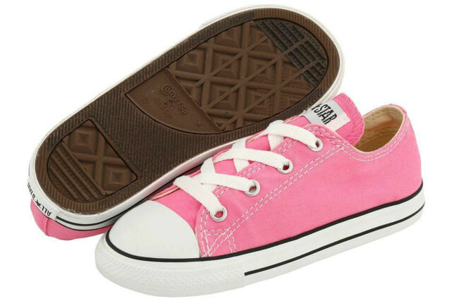 0a9be9b9d4f2 Converse Chuck Taylor All Star Ox Pink Wht Infant Toddler Girl Shoes Size  2-10