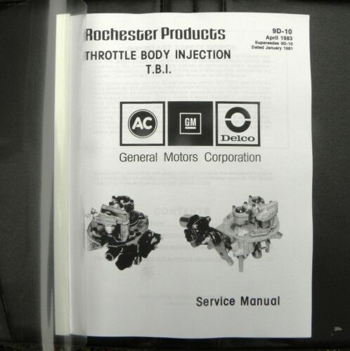 Service Manual CrossFire  Rochester Fuel Injection TBI