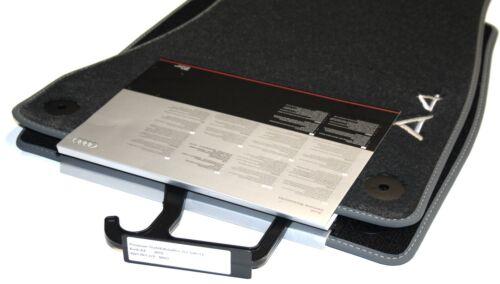 Original Audi A4 B9 8W Fußmatten Velours Premium Textilfußmatten vorn