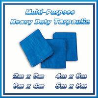 2x3m Blue Strong Tarpaulin Heavy Duty Waterproof Cover Weather Proof Hootch Tarp