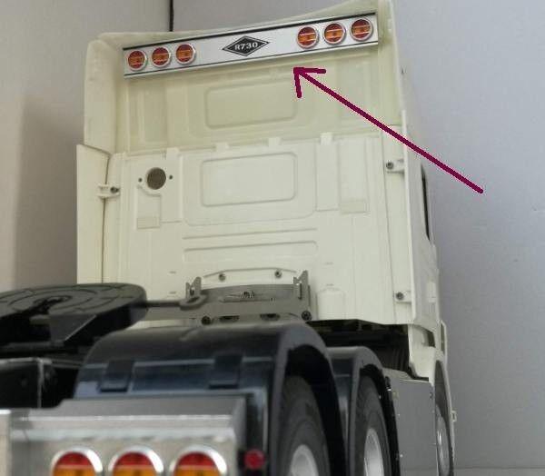 LED luz de señal súperior Techo Conjunto Con Adhesivo Para Tamiya 1 14 Scania R620 R730 Arocs