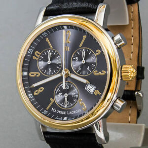 Herren-Armbanduhr-Maurice-Lacroix-Quarz-Chronograph