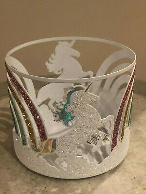 Glitter Rainbow Unicorn Metal Soap Holder Sleeve~ NWT Bath /& Body Works
