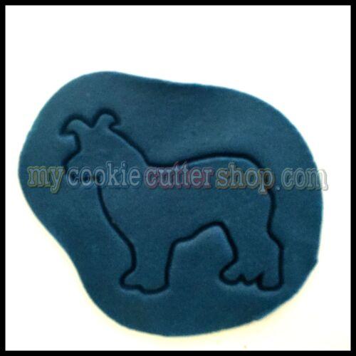 COLLIE DOG COOKIE CUTTER 9cm high x 9cm wide