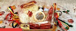Confezione regalo norcinerie, cesto natalizio con prodotti tipici di Norcia