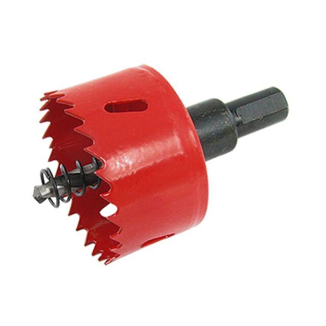 53 mm Durchmesser rotes Spiralbohrer Lochsaege mit Sechskantschaft N2T8 E6R3