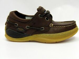 best loved d71bc 7e9ee Dettagli su Henri Lloyd Unisex Navigator Mocassino in pelle Scarpe da Barca  Marrone UK 3