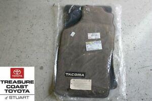 NEW OEM TOYOTA 96-2004 TACOMA REGULAR CAB OAK (BROWN) FLOOR MATS & CLIPS 2PC SET