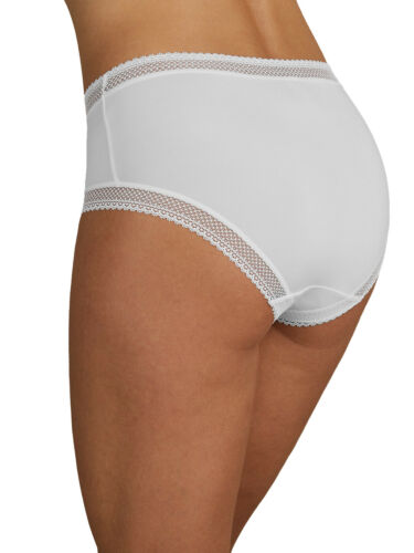 M /& S size 24 stretchy Midi Knickers panties briefs lace trim White