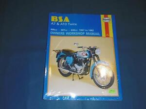 haynes bsa a7 a10 twins owners workshop manual 121 9780856961212 rh ebay co uk BSA A10 Frame BSA A10 Plunger