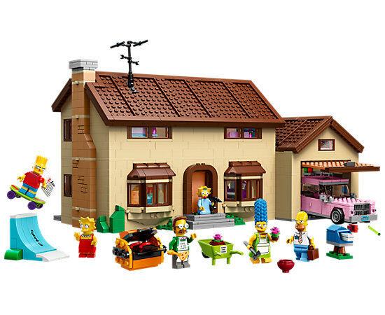 Simpsons haus 2575pcs 16005 - die simpsons - pls msg - loge