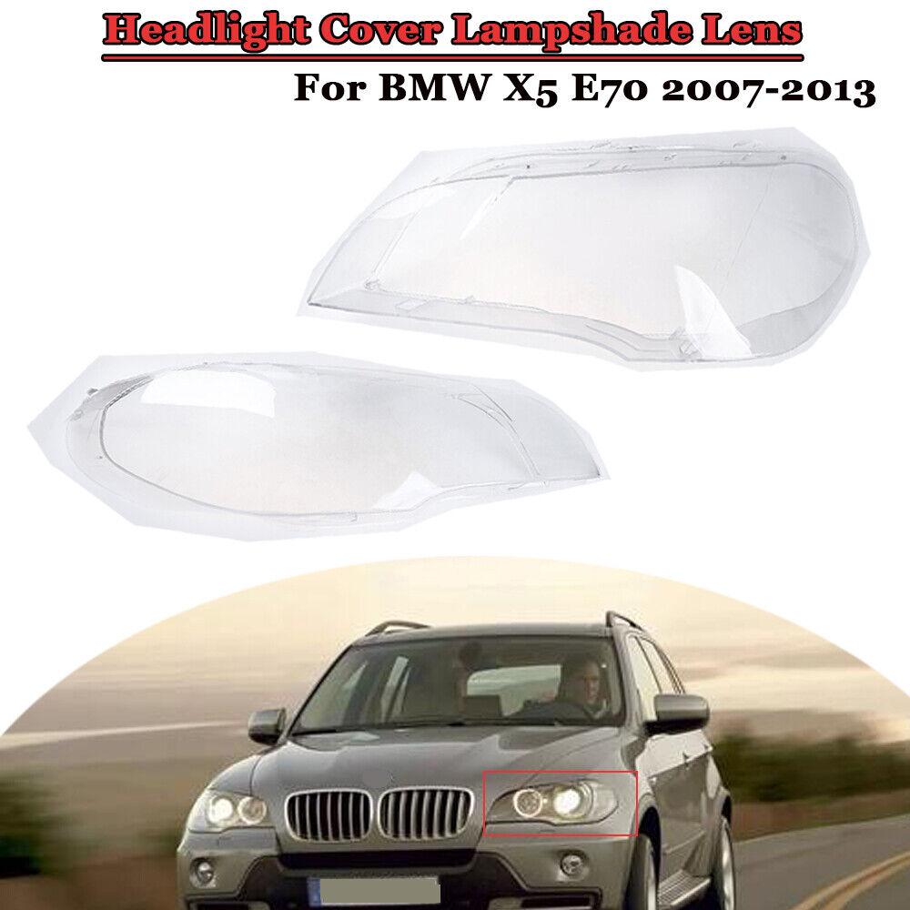 2x Klar Scheinwerfer Linsen Streuscheibe Scheinwerferglas Für BMW X5 E70 2007-13