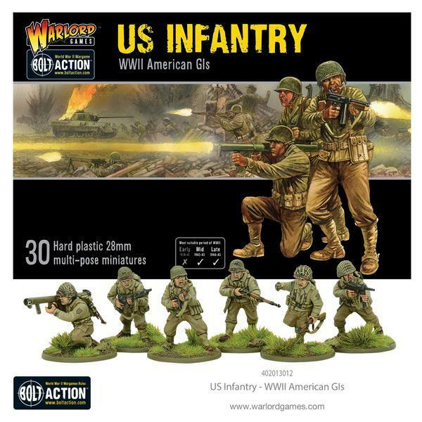 US INFANTRY - BOLT ACTION - WARLORD GAMES - BOX SET