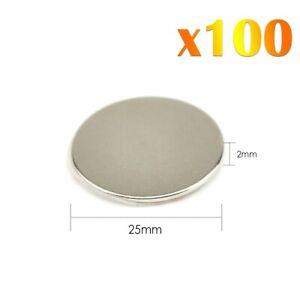 100-x-Neodymium-Self-Adhesif-Fort-Rond-Magnets-Super-Craft-Disc-NdFeb-N42
