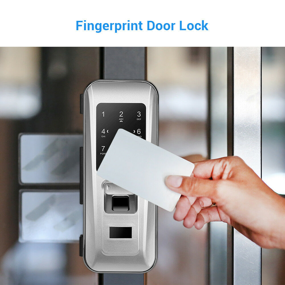 Timbre Puerta Cerradura Inteligente De Huella Digital Seguridad Hogar Antirrobo entrada de código de tarjeta