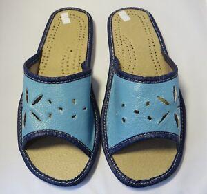 Latschen,Pantoffeln Größe 36-40 Ci-99 Damen Hausschuhe Echtleder