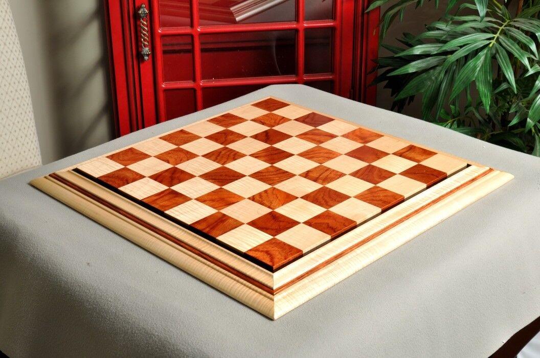 Signature Contemporary II Chess Board - Curly Maple / Pomelle Bubinga - 2.5  Squ